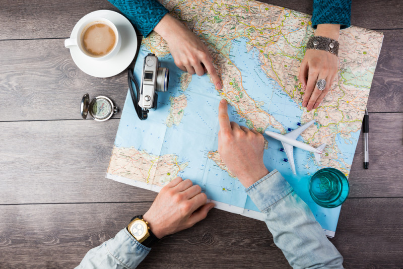 Suggestions of destinations